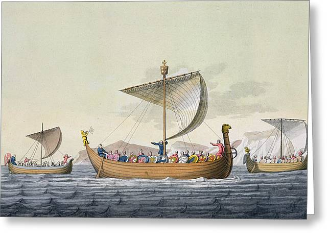 The Fleet Of William The Conqueror Greeting Card by Italian School