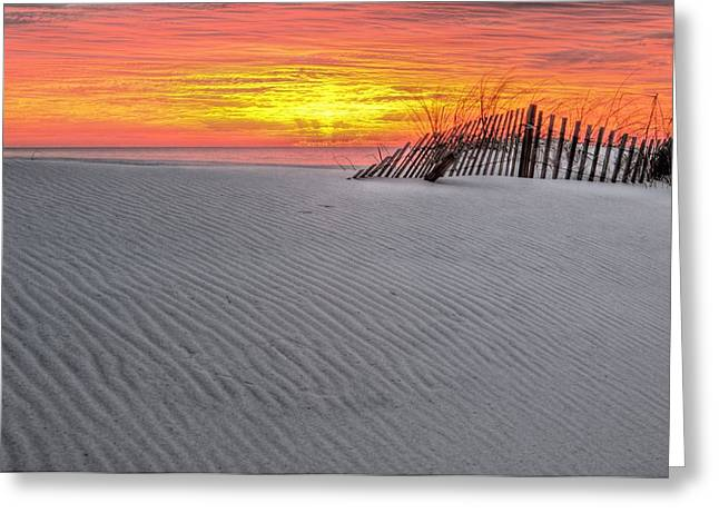 The Florida Alabama Line Greeting Card by JC Findley