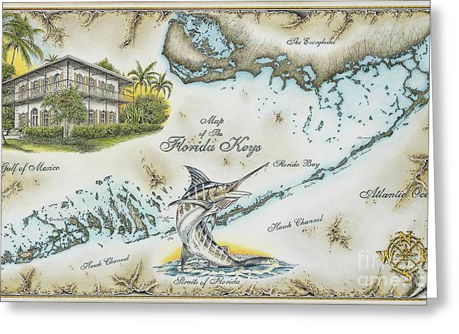 The Florida Keys Greeting Card by Mike Williams