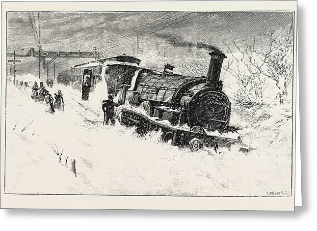 The Flying Dutchman Express Train Off The Rails At Camborne Greeting Card