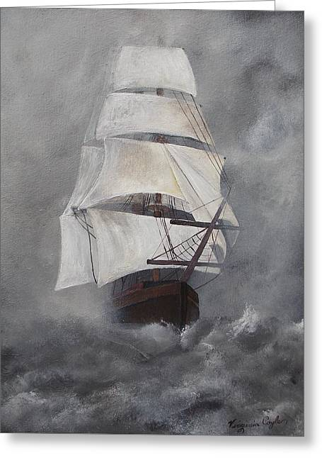 The Flying Dutchman Greeting Card by Virginia Coyle