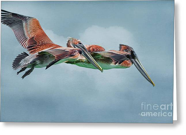 The Flying Pair Greeting Card