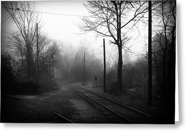 Greeting Card featuring the photograph The Fog 2 by Jim Poulos
