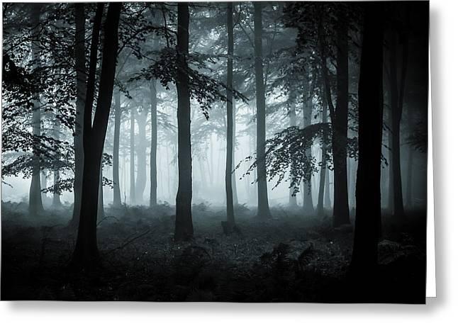 The Fog Greeting Card by Ian Hufton