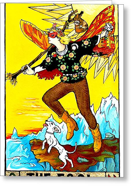 The Fool Greeting Card by Joseph Demaree
