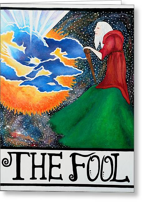 The Fool Greeting Card by Natalie Linder