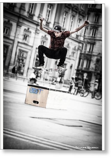 The Fool Street Skater Greeting Card by Stwayne Keubrick