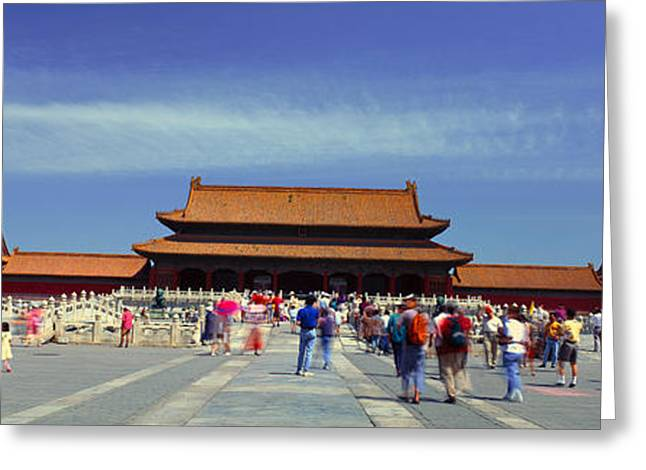 The Forbidden City - Tai He Men Gate Greeting Card by Panoramic Images
