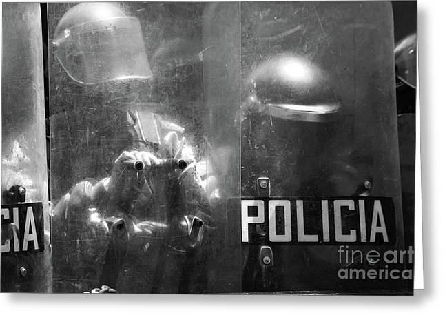 The Force Of The Law Greeting Card by James Brunker