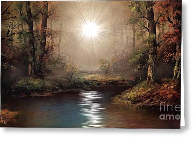 Sunrise Forest  Greeting Card