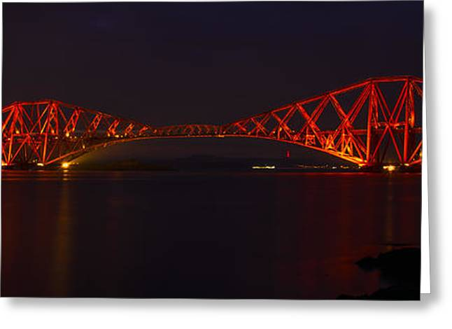 The Forth Bridge By Night Greeting Card