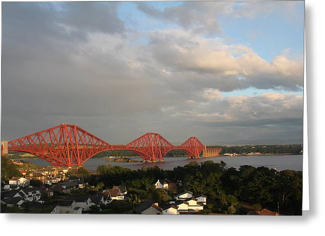 Greeting Card featuring the photograph The Forth Bridge - Scotland by David Grant