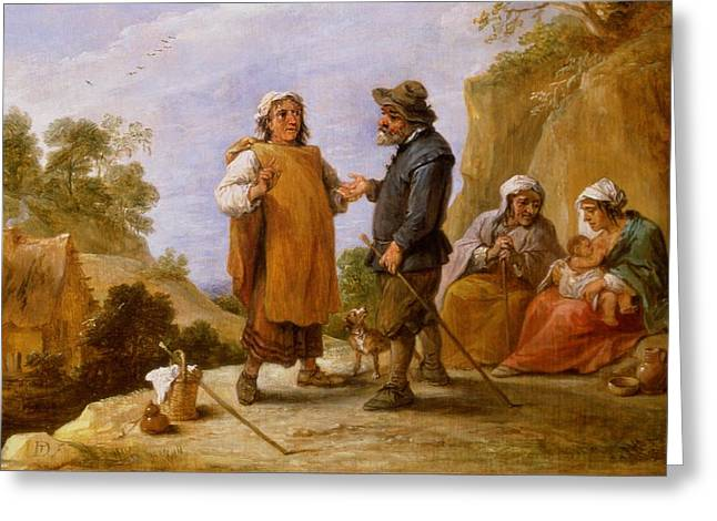 The Fortune Teller Greeting Card by David the Younger Teniers