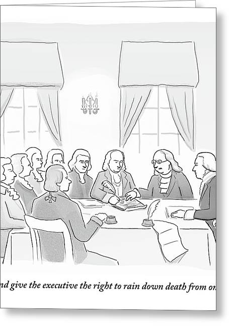 The Founding Fathers Drafting The Constitution Greeting Card