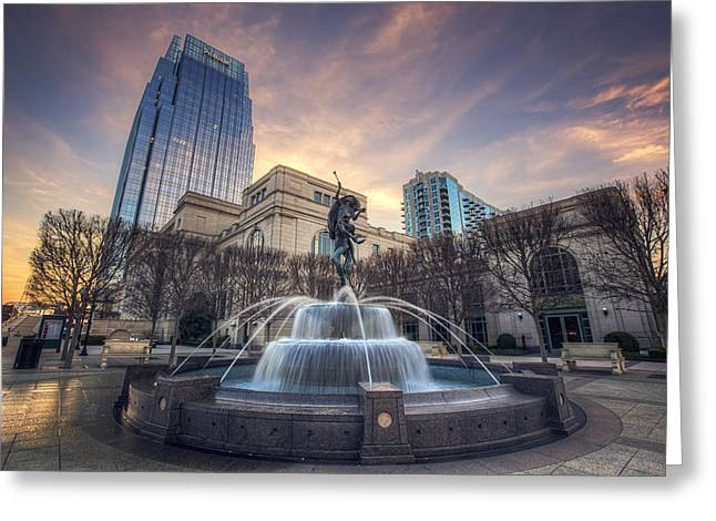 The Fountain Greeting Card by Malcolm MacGregor