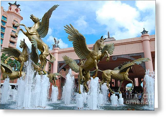 The Fountains At Atlantis Greeting Card