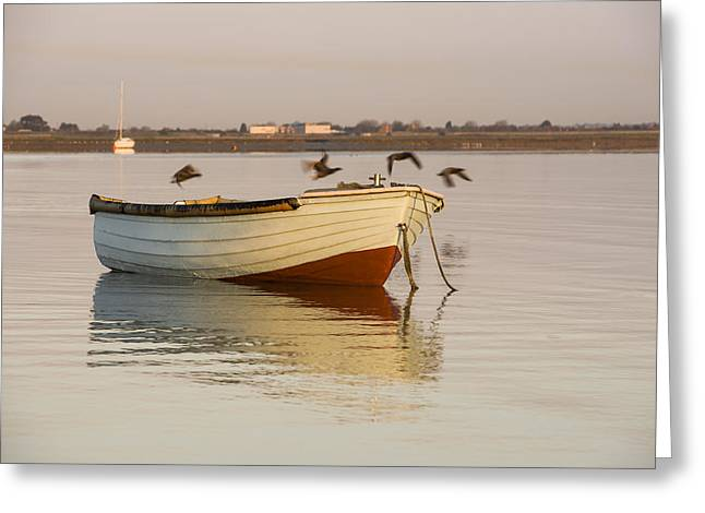 Greeting Card featuring the photograph The Four Flying Boatmen by Trevor Chriss