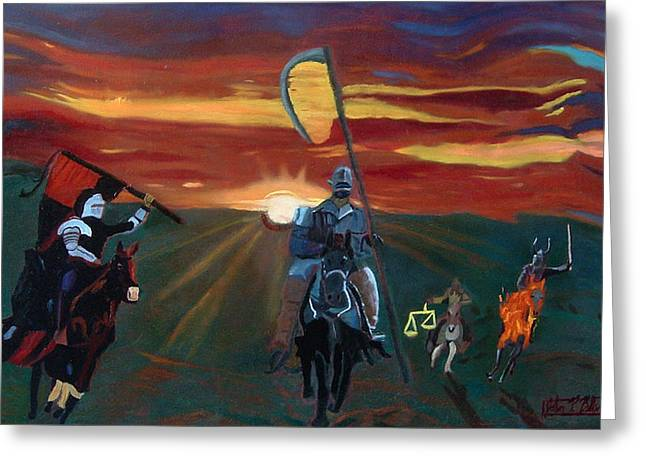 The Four Horsemen Of The Apocalypse Greeting Card by John Paul Blanchette
