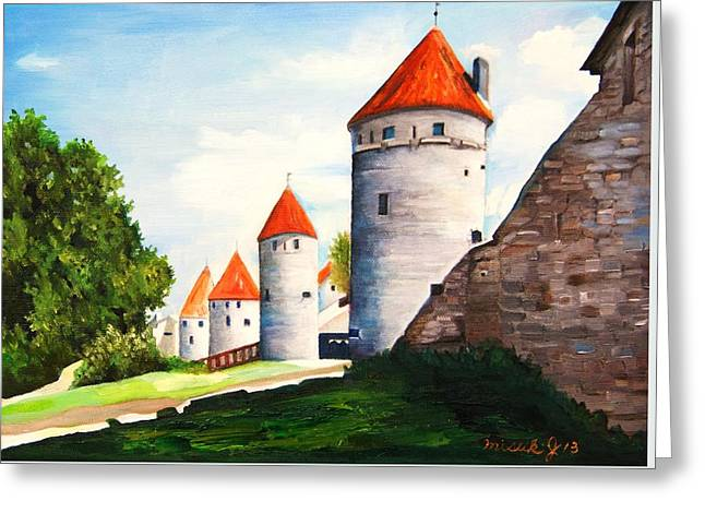 The Four Old Towers Estonia Greeting Card