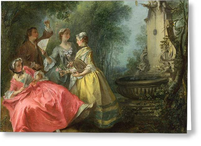The Four Times Of Day. Midday Greeting Card by Nicolas Lancret
