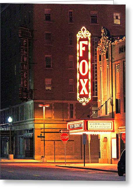 The Fox After The Show 2 Greeting Card by Sylvia Thornton
