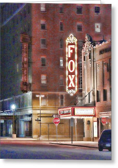 The Fox After The Show Greeting Card