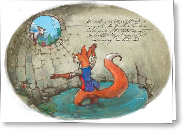 The Fox And The Goat IIi Greeting Card by Ashraf Ghori