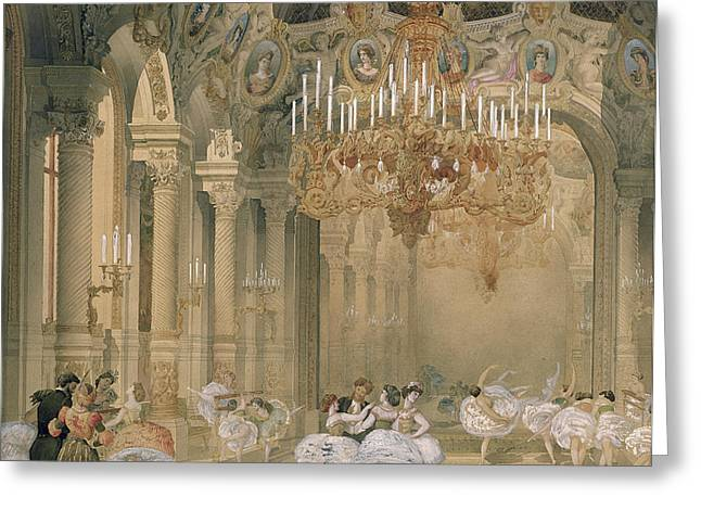 The Foyer Of The Opera During The Interval Greeting Card