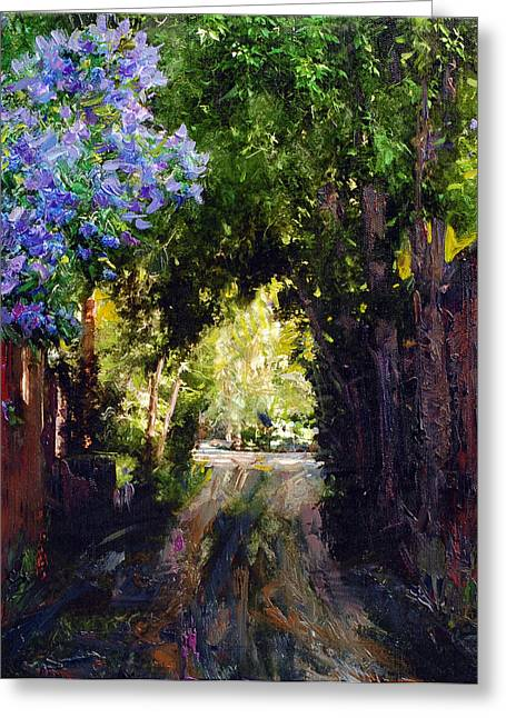 The Fragrant Passage Greeting Card by Steven Boone