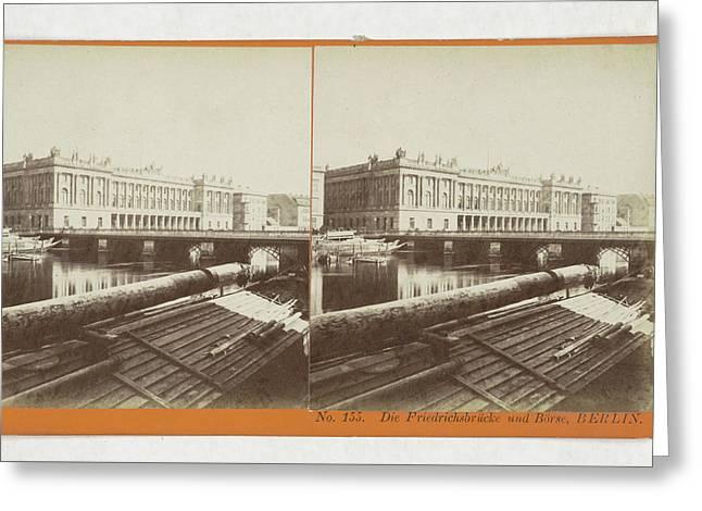 The Frederick Bridge And Borse, Berlin, Germany Greeting Card by Artokoloro