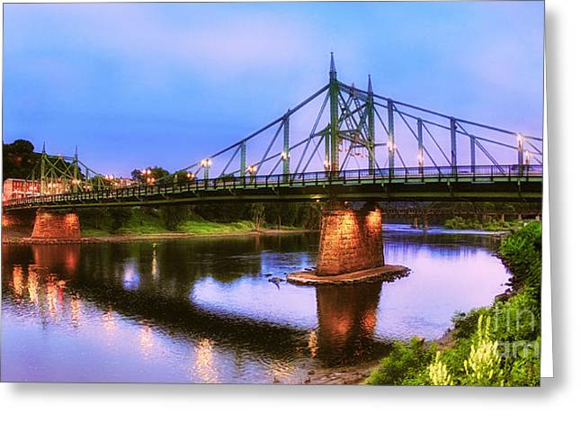 The Free Bridge Greeting Card by Mark Miller