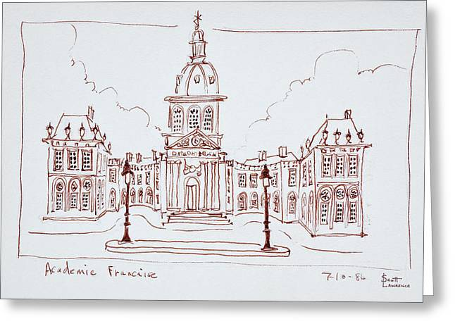 The French Academy, Paris, France Greeting Card