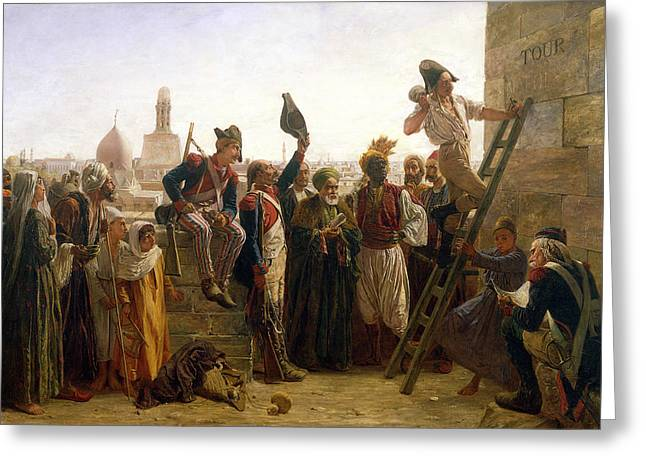 The French In Cairo In 1800, 1884 Greeting Card by Walter Charles Horsley