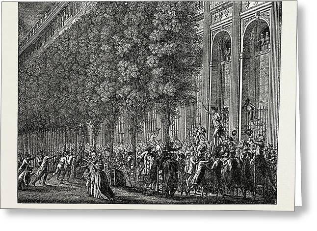 The French Revolution Desmoulins Rallying The People Greeting Card