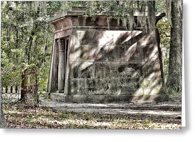 The Fripp Crypt Greeting Card by Patricia Greer