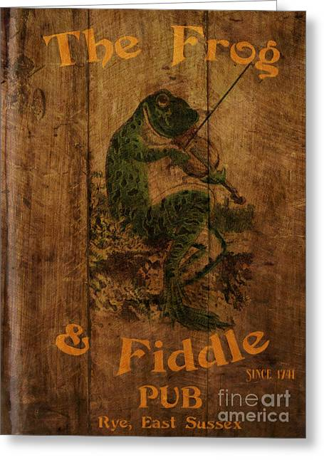 The Frog And Fiddle Pub Greeting Card
