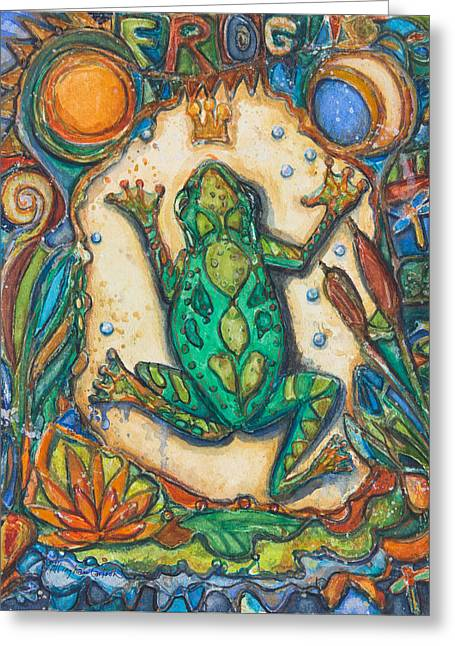 The Frog Prince   Children Of The Earth Series Greeting Card
