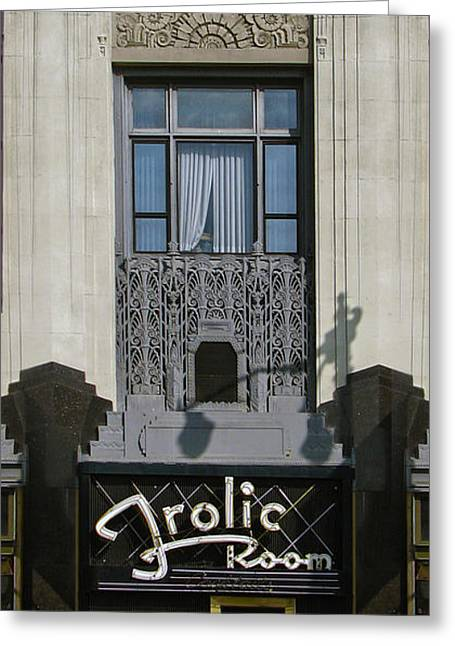 The Frolic Room Greeting Card by Gregory Dyer