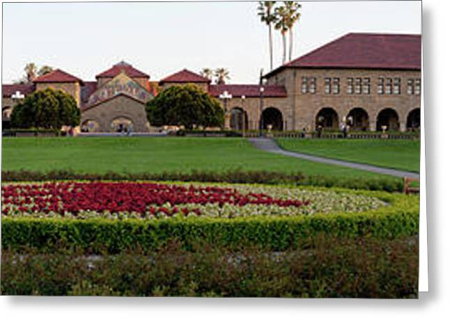 The Front Of Stanford University Greeting Card