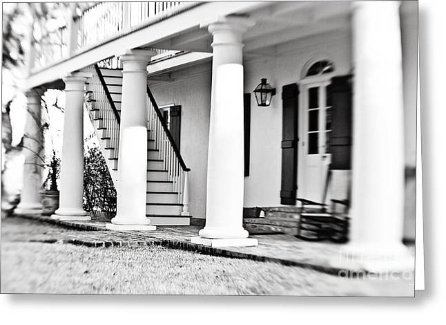 The Front Porch - Bw Greeting Card