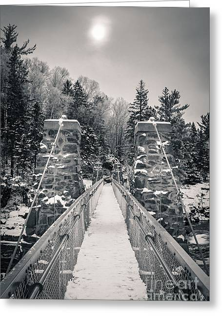 Greeting Card featuring the photograph The Frost Across by Mark David Zahn