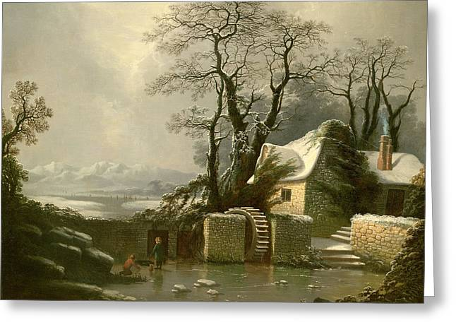 The Frozen Mill Race Greeting Card by George, of Chichester Smith