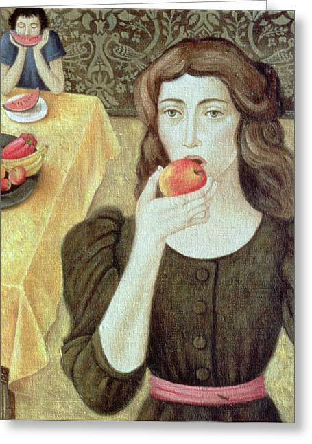 The Fruit Eaters Greeting Card by Patricia O'Brien