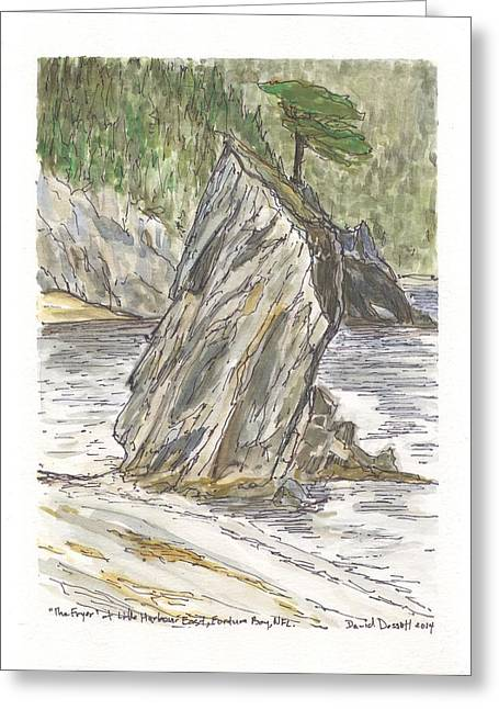 The Fryer In Little Harbour East Fortune Bay Nl Greeting Card