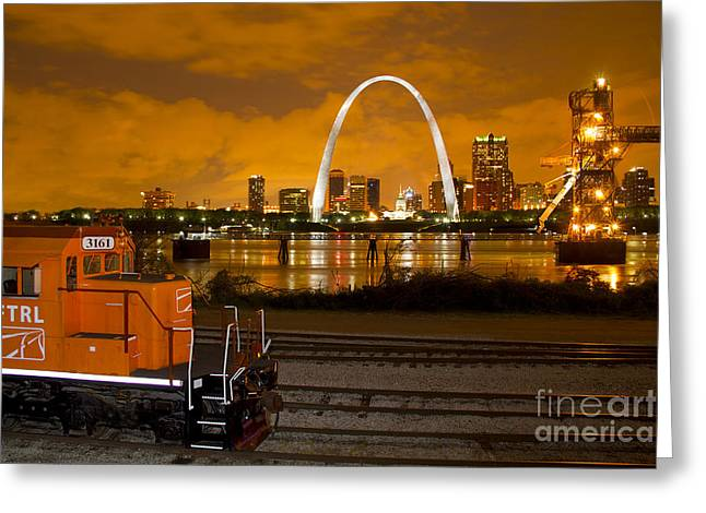 The Ftrl Railway With St Louis In The Background Greeting Card