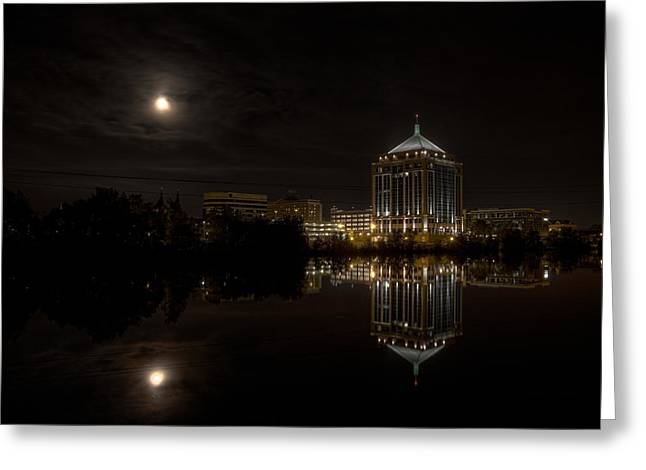 The Full Moon Over The Dudley Tower Greeting Card