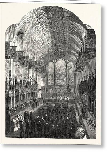 The Funeral Of The Late Duchess Of Kent The Choir Of St Greeting Card