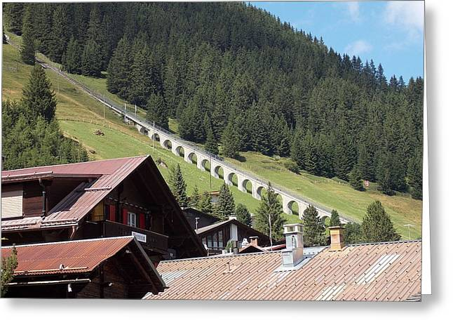 The Funicular In Murren Greeting Card