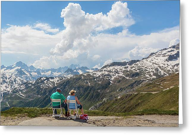 The Furka Pass, Switzerland Greeting Card by Ken Welsh