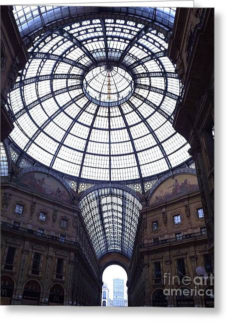 The Galleria Milan Italy Greeting Card by Tony Ruggiero